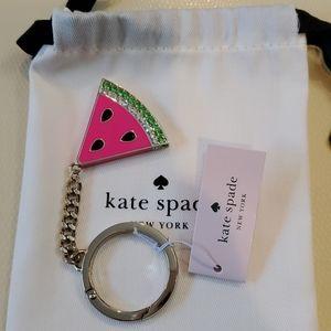 Kate Spade Sparkly watermelon slice keychain